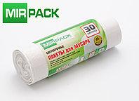 """Мусорный пакет 30л, 20 шт/рул """"EXTRA"""", ПНД, 12 мкм, размер 50х60 см, белые, фото 1"""