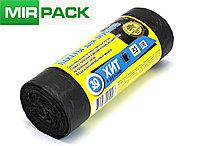 """Мусорный пакет 30л, 25 шт/рул """"ХИТ"""", ПНД, 8 мкм, размер 50х60 см, черные, фото 1"""