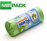 """Пакеты био  30 л, 30шт/рул """"PURE ECOLOGY"""" биоразлагаемые, ПНД, 7 мкм, размер 50х60 см, зеленые, фото 1"""