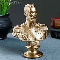 Бюст Николай II бронза 15см