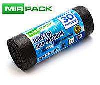 """Мусорный пакет 30л, 30 шт/рул """"STANDART"""", ПНД, 6 мкм, размер 50х60 см,черные, фото 1"""