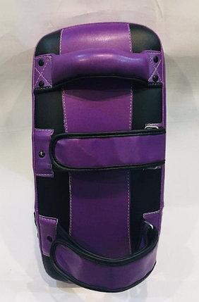Лапы для бокса, каратэ, таэквондо Everlast кожа (цвет черный, фиолетовый), фото 2