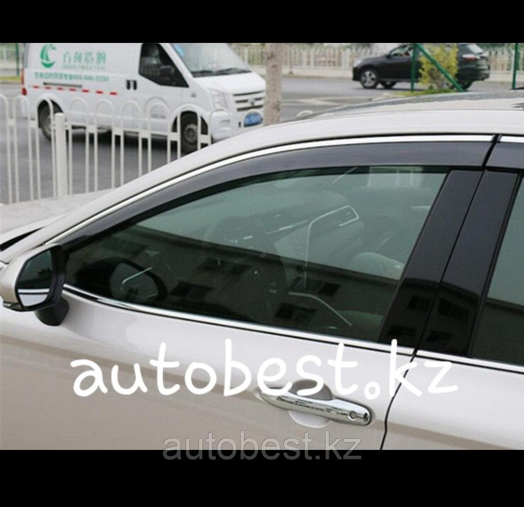 Camry 70 Оригинальные ветровики на Toyota Camry 70 Тойота Камри 70 дефлектор окон без надписи
