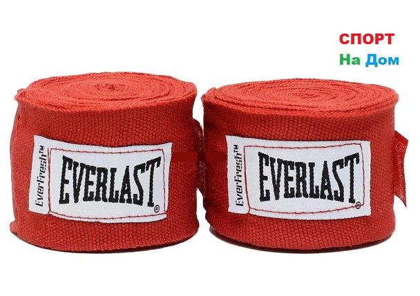 Боксерский бинт EVERLAST 2 штуки 3 метра (цвет красный), фото 2