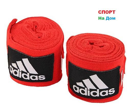 Боксерский бинт Adidas 2 штуки 3 метра (цвет красный), фото 2