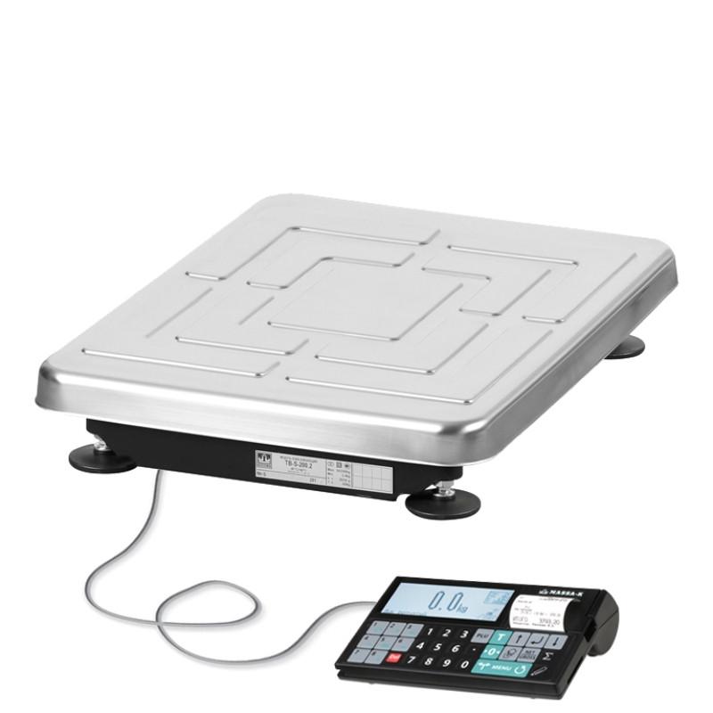 Весы с печатью чеков TB-S-32.2- RC-1 5/10 г, 32 кг