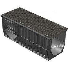 Комплект Gidrolica Light: лоток водоотводный ЛВ-30.38.48 - пластиковый c решеткой РВ -30.37.100 ячеистой стальной оцинкованной, кл. А15