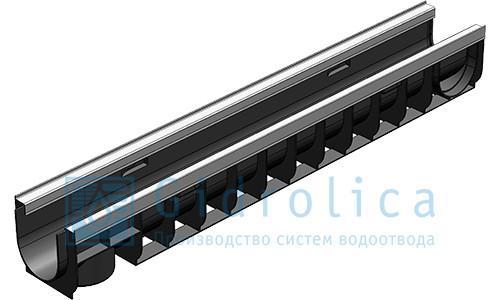 Лоток водоотводный Gidrolica Standart ЛВ-10.14,5.13,5 - пластиковый