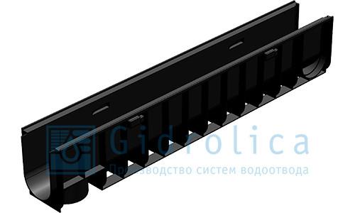 Лоток водоотводный Gidrolica Standart Plus ЛВ-10.14,5.18,5 - пластиковый (усиленный)