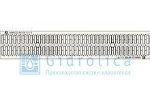 Решетка водоприемная Gidrolica Standart РВ-10.13,6.100 - штампованная стальная оцинкованная с отверстиями для