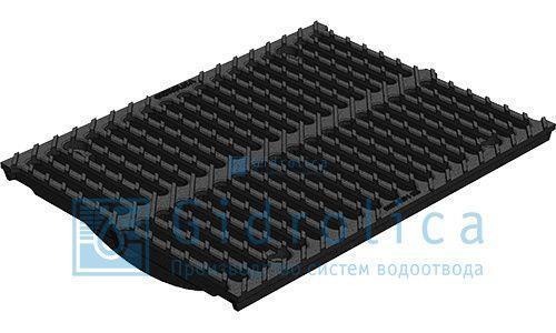 Решетка водоприемная Gidrolica Standart РВ -15.24.100 - штампованная стальная нержавеющая, кл. А15
