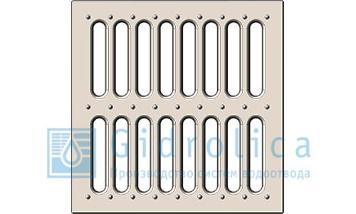 Решетка водоприемная Gidrolica Point РВ-28,5.28,5 - штампованная стальная оцинкованная, кл. А15