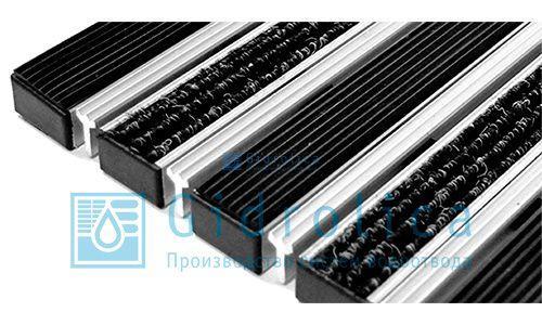Придверная решетка Gidrolica Step - текстиль+щетка 390х590мм