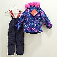 """Куртка с комбинезоном """"Reimе"""" от 1 до 6 лет, для девочек, со снежинкой., фото 1"""