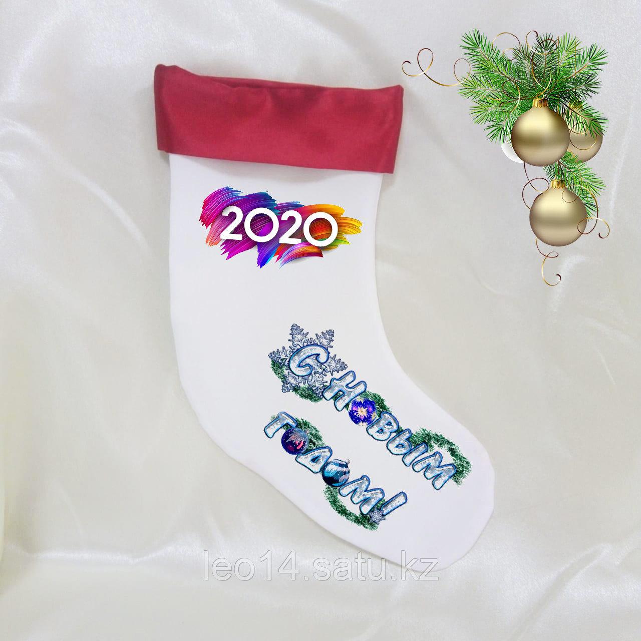 Новогодний (Рождественский) чулок для сублимации