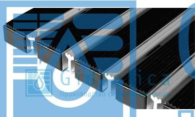 Придверная решетка Евро широкий скребок+текстиль+щётка+резина