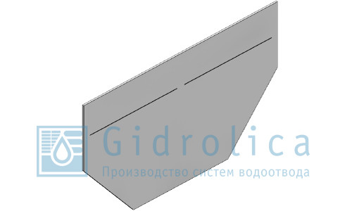 Заглушка торцевая стальная (СО-100мм)с водосливом  ЗТв 10 - 15,6. 25. 0,125