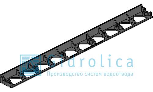 Бордюр Gidrolica Line Б-100.8.4.5 - пластиковый черный L1000