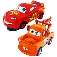 Cars 2 Тачки Набор машинок Маквин и Мэтр музыкальный Super Power Light and Music and Dance, фото 1