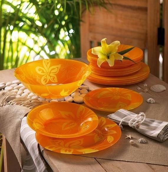 Столовый сервиз Luminarc Lily Flower 19 предметов на 6 персон