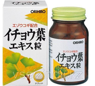 Экстракт Гинкго билоба + Элеутерококк, ORIHIRO. Улучшение памяти. 240 гранул на 24-30 дней.