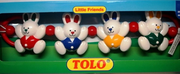 "TOLO ""Погремушка на кроватку"" Крольчата"