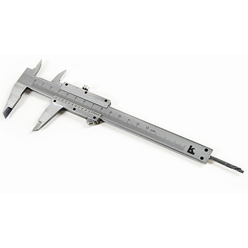 Штангенциркуль, 150 мм, цена деления 0,02 мм, металлический, с глубиномером//MATRIX