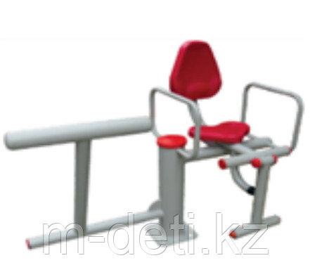 Уличный тренажер 2х поз. Гимнастический + упражнения для ног