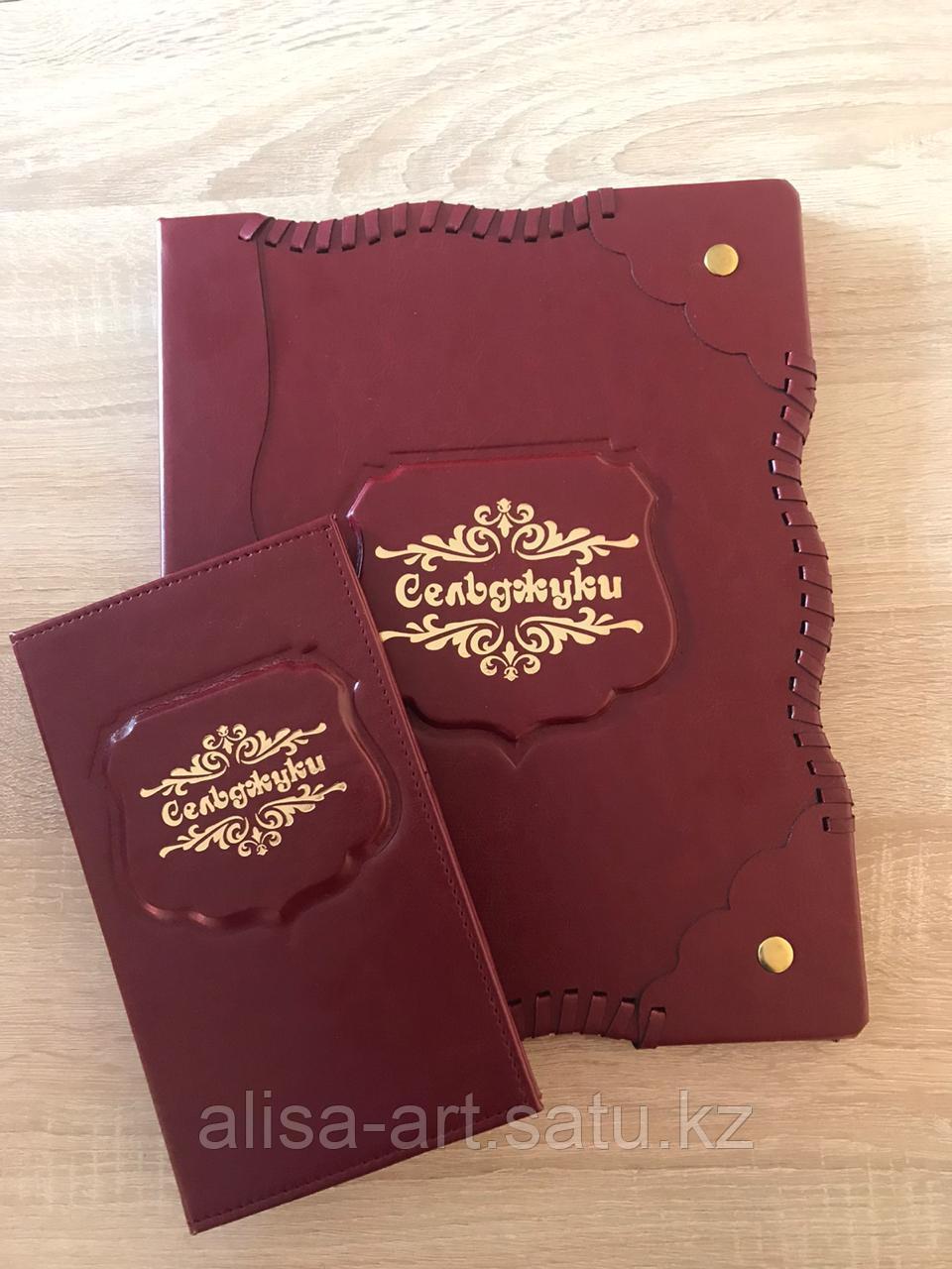 Папки меню, чекбуки, карты вин - фото 1