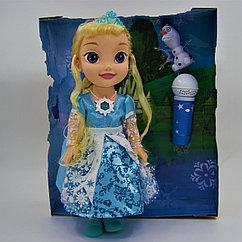 """Кукла """"Холодное сердце"""" Эльза и Олаф с микрофоном"""