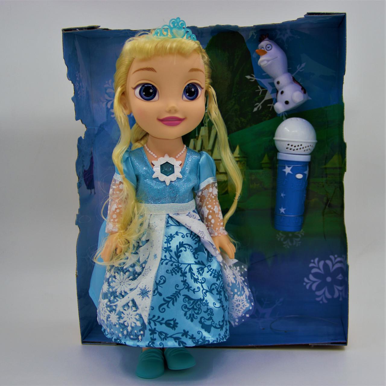 """Кукла """"Холодное сердце"""" Эльза и Олаф с микрофоном - фото 1"""