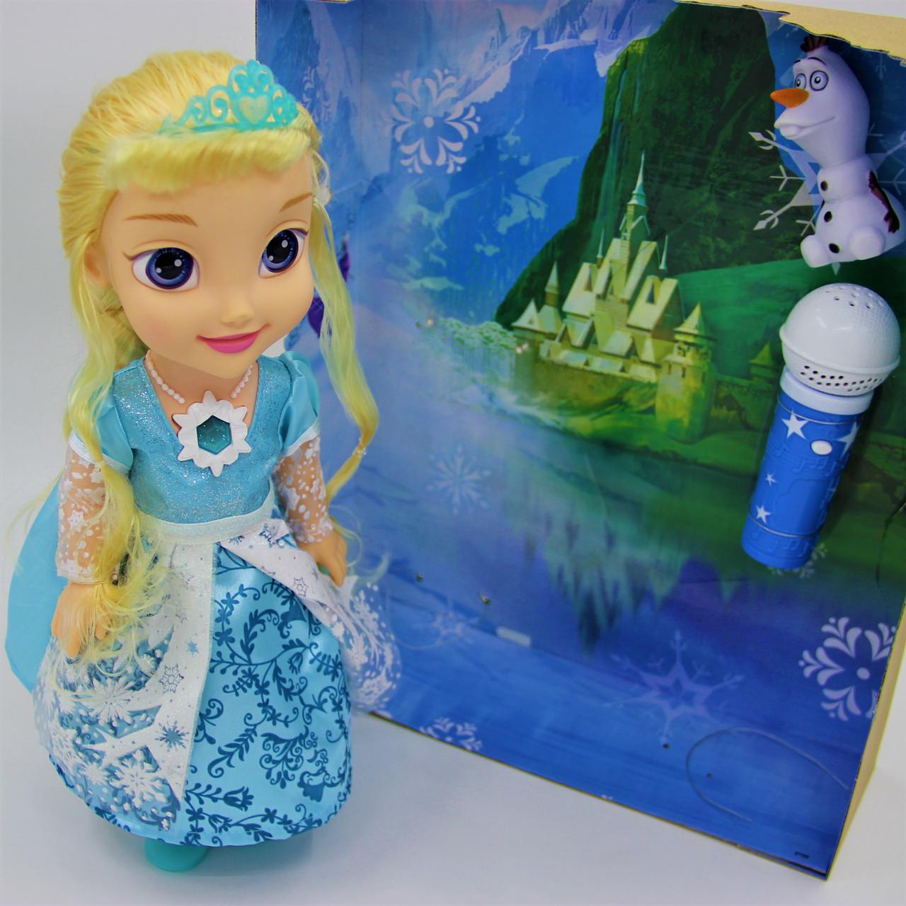 """Кукла """"Холодное сердце"""" Эльза и Олаф с микрофоном - фото 2"""