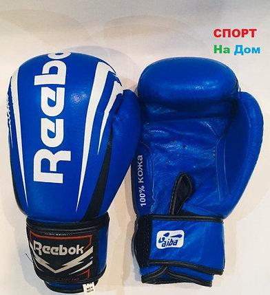 Перчатки для бокса и единоборств Reebok 8-OZ кожа (цвет синий), фото 2