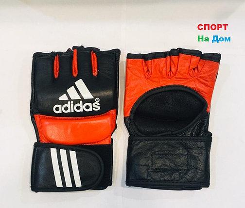 Перчатки шингарты для боевых искусств Adidas Размер M (цвет красный, черный), фото 2