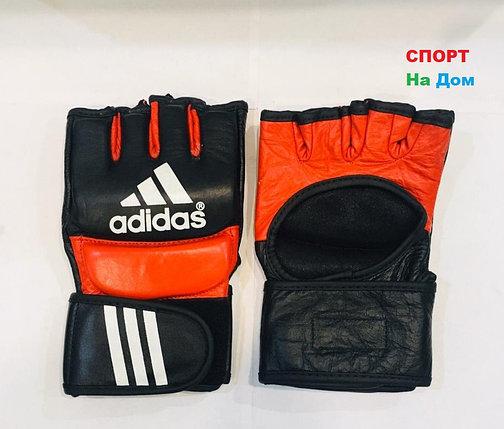Перчатки шингарты для боевых искусств Adidas Размер L (цвет красный, черный), фото 2