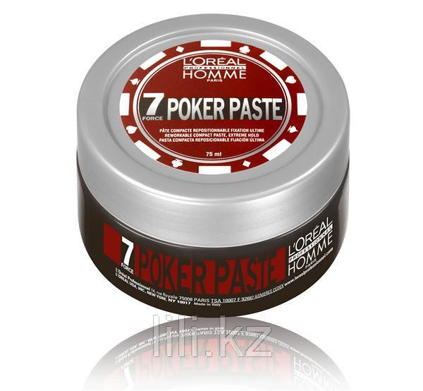 Моделирующая паста экстремально сильной фиксации Loreal Homme Poker Paste 75 мл. - фото 1