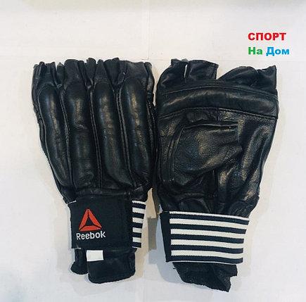 Перчатки шингарты для боевых искусств Reebok Размер M (цвет черный), фото 2