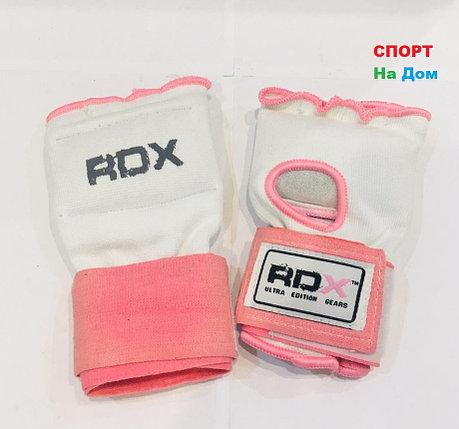 Перчатки шингарты для боевых искусств RDX Размер L (цвет розовый, белый), фото 2