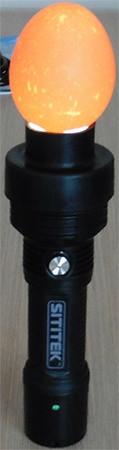 Осмотр яйца в овоскопе SITITEK OVO-1