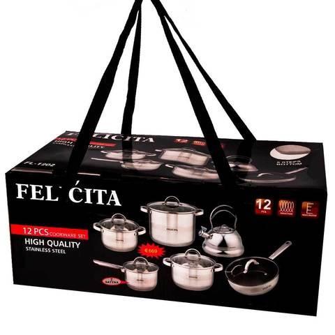 Набор кухонной посуды с чайником FELICITA [12 предметов]