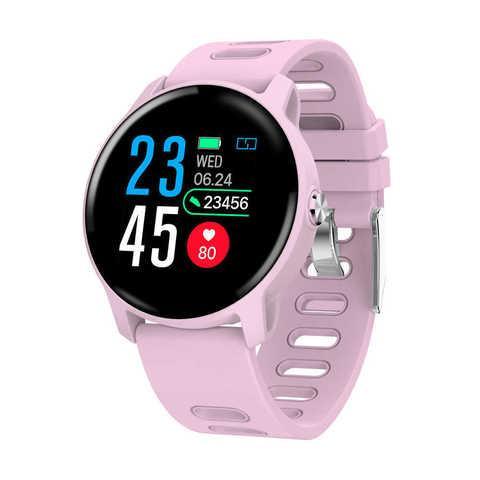 Умные часы водонепроницаемые MAFAM S08 с пульсометром и измерением давления (Розовый)