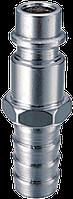 Разъемное соединение рапид (штуцер)_елочка 10мм с обжимным кольцом 10x15мм