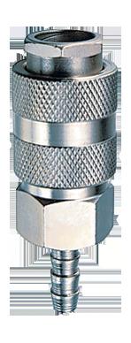 Разъемное соединение рапид (муфта)_елочка 10мм с обжимным кольцом 10х15мм