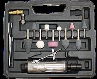 Пневмошлифмашина прямая GL25000 с набором в кейсе