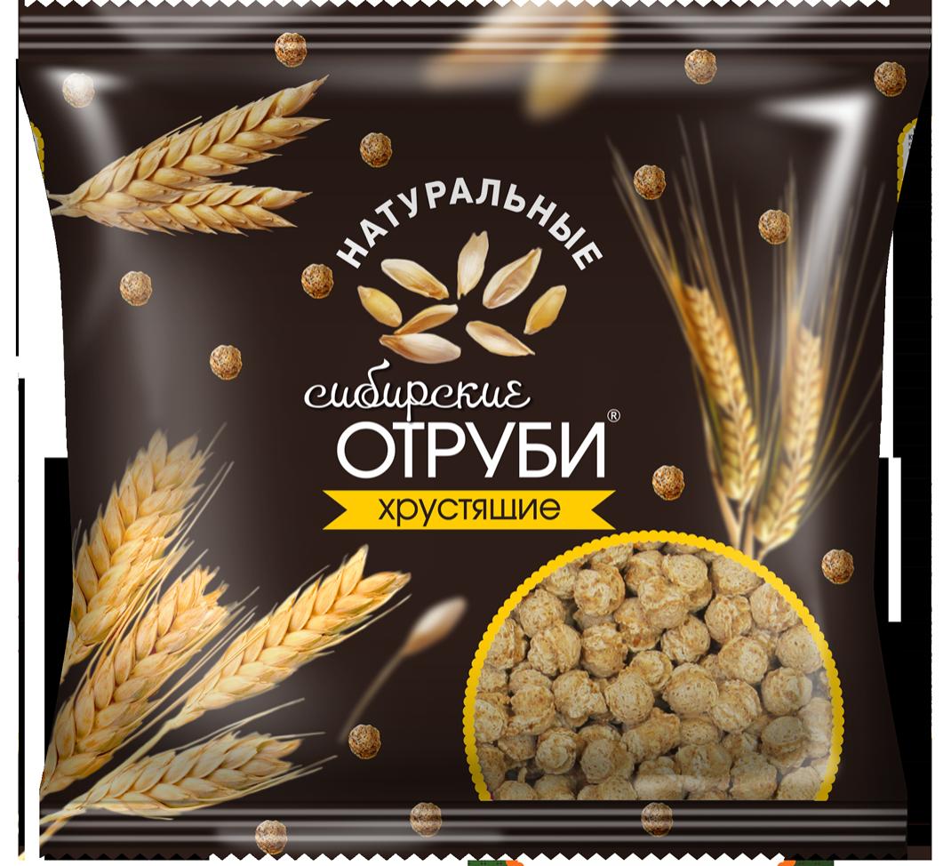 Отруби Сибирские, хрустящие (натуральные), пакет 100 гр