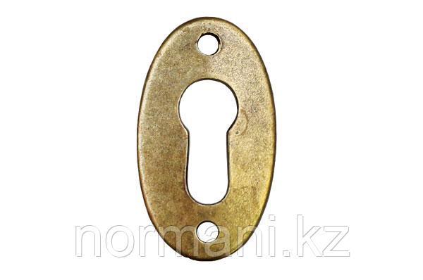 Накладка под ключ, отделка бронза античная