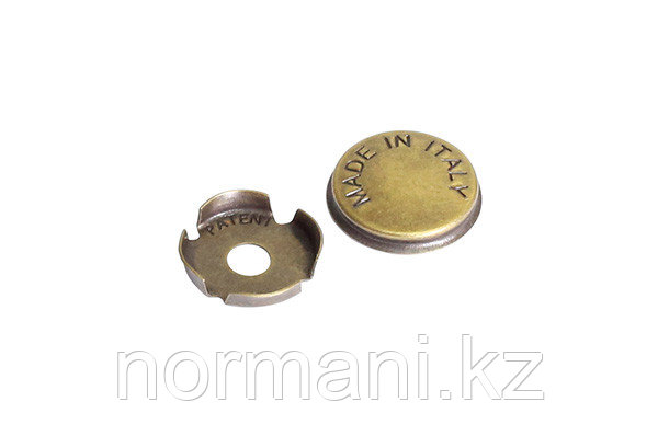 Заглушка декоративная для винта крепления ручки, отделка бронза античная