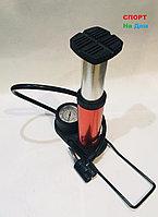 Насос ножной с манометром Mini foot pump (цвет красный)
