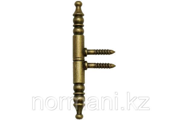 Петля декоративная 92х9х9мм, отделка бронза античная
