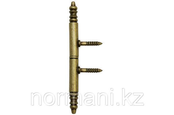 Петля декоративная 110х9х9мм, отделка бронза античная